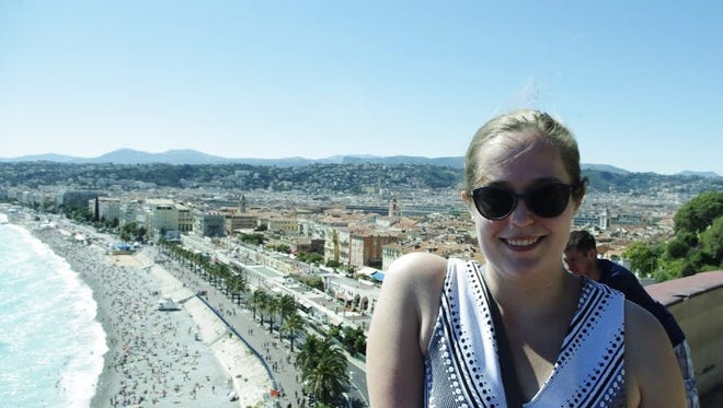 Amanda Galbavi of Oceola Township poses in Nice, France before the July 14 terror attack.