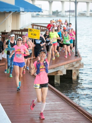 The Marathon of the Treasure Coast's course runs along the river, over bridges and through charming residential neighborhoods in Stuart.