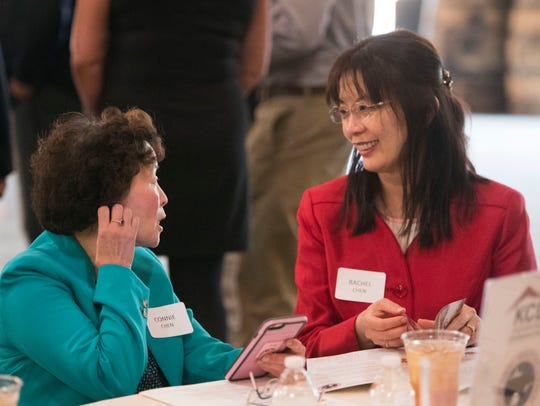 Connie Chen, left, and Rachel Chen at the Chehote District,