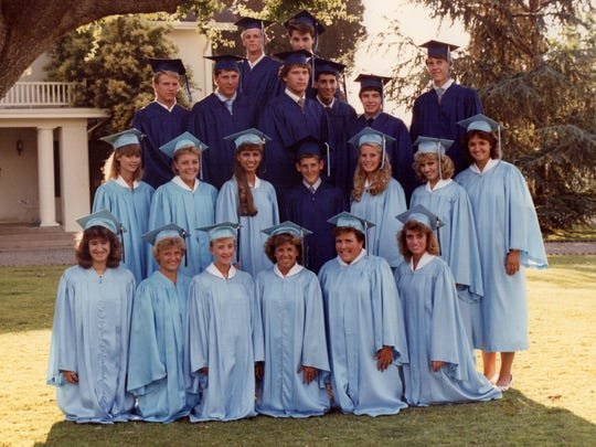 Pictured is CVC's first graduating class.