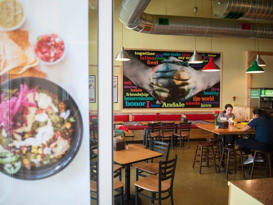 Interior of Andale' Latino Grill  in Marlton.