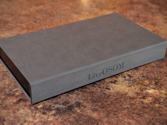 The OSOMBOX is padded inside and wrapped in a faux