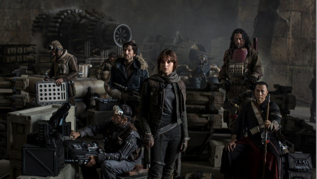 Donnie Yen (far right) stars with Diego Luna and Felicity Jones in 'Rogue One: A Star Wars Story.'