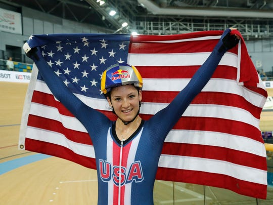 Chloe Dygert of the United States celebrates after