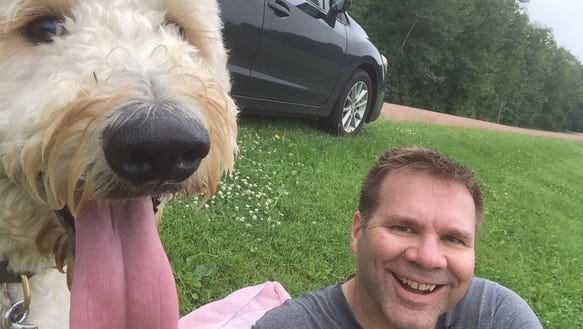 Henry and me, in the heart of Wisconsin dairy country,