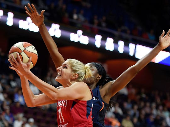 Washington Mystics forward Elena Delle Donne plays