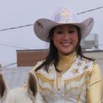 Samantha Tate, 23, led the 75th Northeast Louisiana Livestock Show Parade in Delhi.