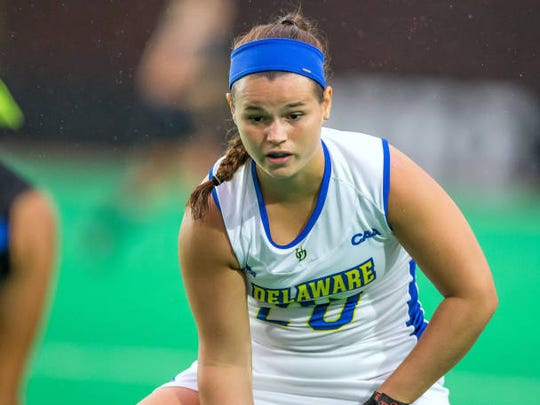 Meghan Winesett has returned for Delaware's last four games and scored her first goal of the season Sunday in a 3-2 OT win at William & Mary.