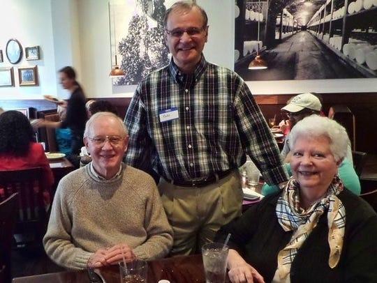 Terry Garman, left, Sarah's Kitchen Founder Bob Carey,