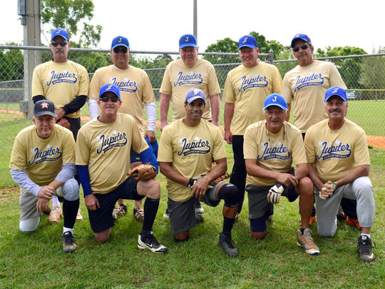 Senior Division Champion team members are, from left,