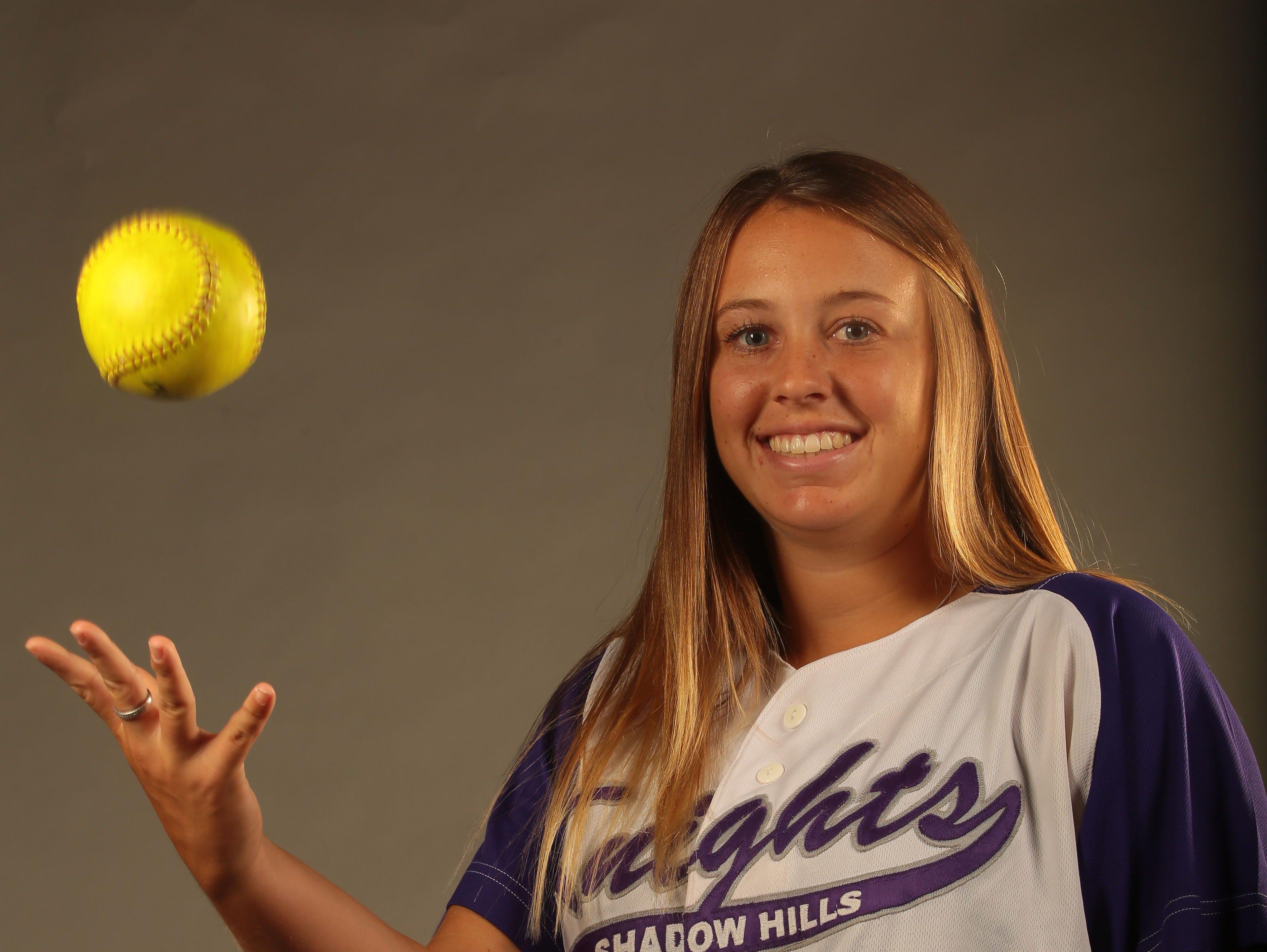Caitlyn Whiteside, Shadow Hills softball player is the Desert Sun softball player of the year. Photographed on June 16, 2015 at the Desert Sun Studio.