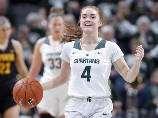 Taryn McCutcheon and Michigan State moved up six spots