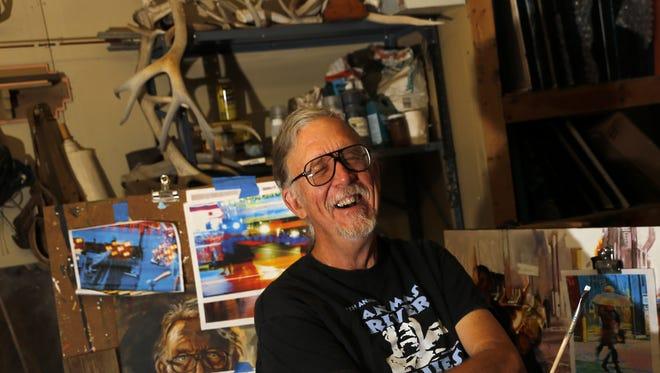 Dale Latta in his studio on Saturday in Aztec.