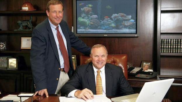 CEO Donald Proctor (right) and Donald Tolliver, president and chief operating officer of Proctor Construction Co.