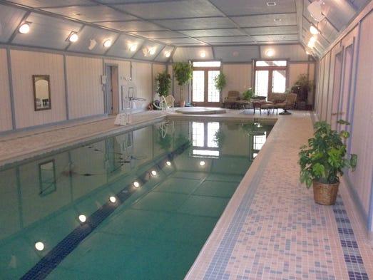 The Rev. Wehrle's indoor pool.