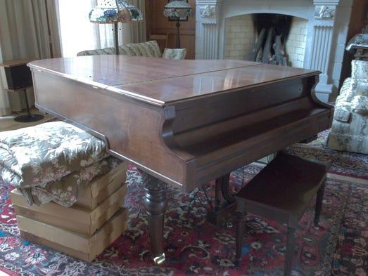 The home also has a grand piano.