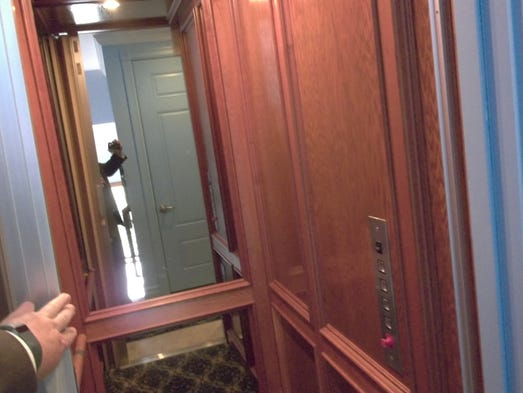 The mansion has an elevator.