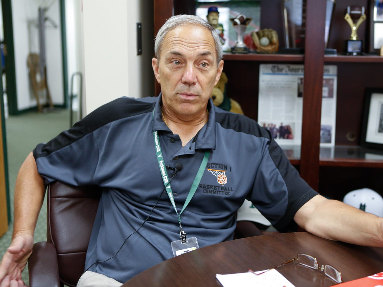 Yorktown High School athletic director Fio Nardone photographed on July 19, 2016.