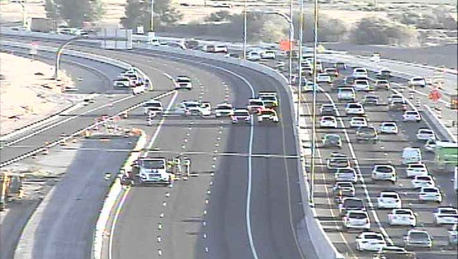A crash on Loop 101 on Sept. 24, 2015, closed southbound lanes.