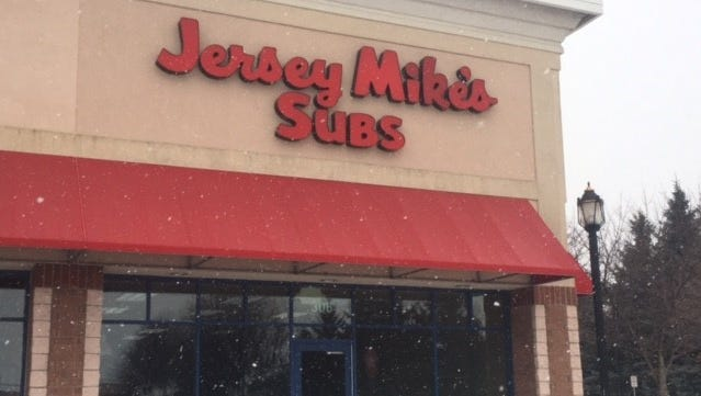 Jersey Mike's Subs appears to be coming to St. Cloud. This Thursday, Jan. 11, photo shows the company's sign hanging above a retail space at 3959 Second St. S.