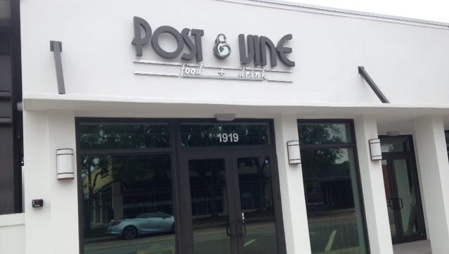 Post & Vine opened April 9. Owner Bobby Del Campo is a restaurateur who has operated restaurants in South Florida, and is thrilled to be part of the Vero Beach's downtown revitalization.