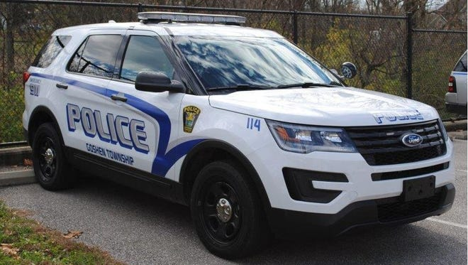 A Goshen Township Police Department vehicle.