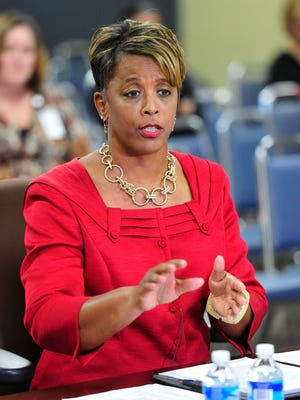 Angela Huff, pictured during her interviews for the superintendent position at Metro Nashville Public Schools on July 10, 2015, is expected to accept the position of interim director of schools at the Clarksville-Montgomery County School System.