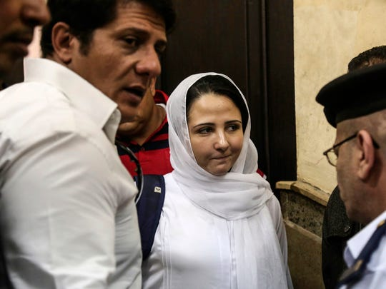 Aya Hijazi, center, a dual U.S.-Egyptian citizen, was