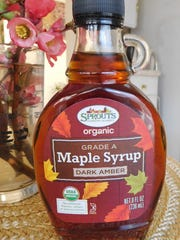 The new grades for pure maple syrup include four new color-flavor classes, all under Grade A. This one is Dark Amber, which is a bold flavor and good for baking.