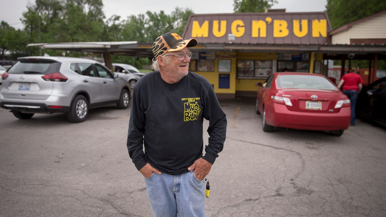 The Mug-n-Bun, on Indy's west side, is a staple of the Indy 500 crowd, delivering state fair-style food and drink through their car hops since 1960, Indianapolis, Friday, May 18, 2018.