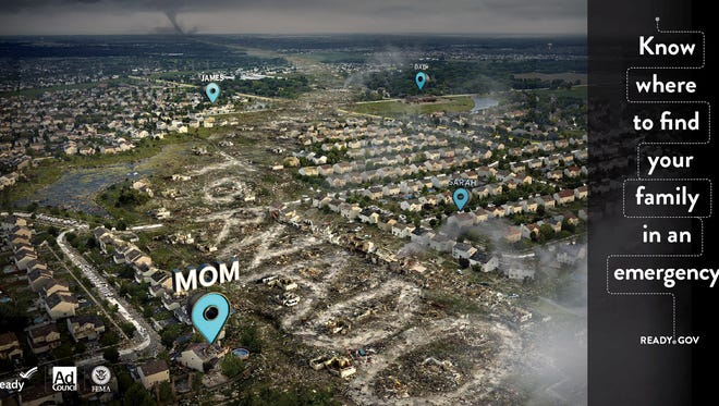 This ad from the Federal Emergency Management Agency is intended to encourage Americans to prepare for a disaster by creating a family plan for communicating in an emergency. The ads will run beginning Aug. 28.