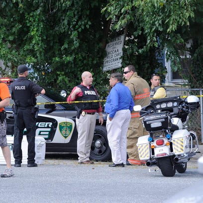 Police investigate a shooting Friday near South Governors
