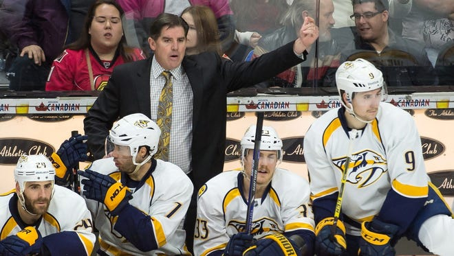 Peter Laviolette has been coaching the Predators to a hot start in the first half of the season.