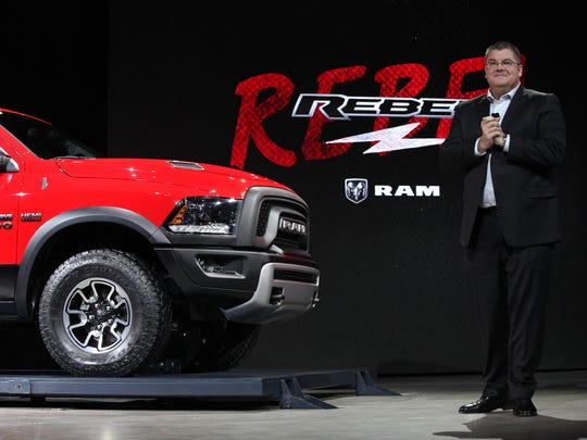 Bob Hegbloom President and CEO of Ram Truck is proud to introduce the 2015 Ram 1500 Rebel Truck  to the media during the 2015 North American International Auto Show at Cobo Center on Tuesday, Jan.13, 2015 in Detroit.