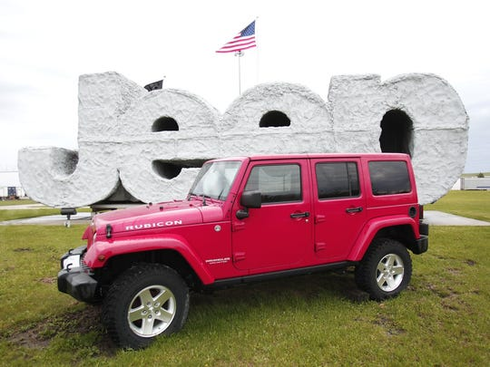 A 2014 Jeep Wrangler at the Chrysler Toledo North Assembly Plant.