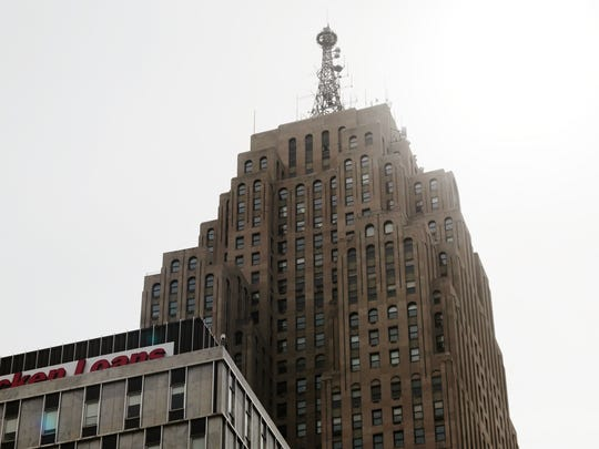 The Penobscot Building is seen in downtown Detroit on Tuesday April 14, 2015.