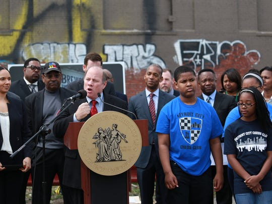 Mayor Mike Duggan announces plans to preserve the iconic