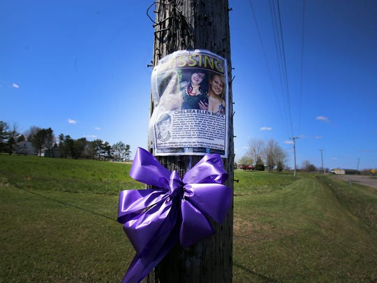 Signs and ribbons are seen around the rural town of