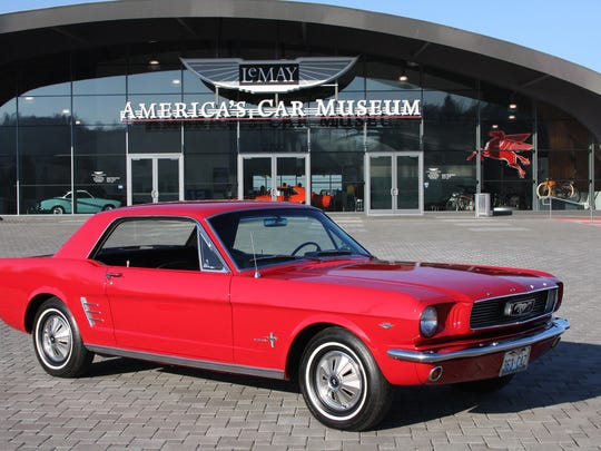 This Mustang is one of three cars from the LeMay: America's