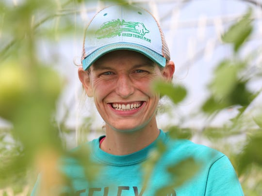 Jill Lada, 26, of Ann Arbor owns and runs Green Things Farm in Ann Arbor with her husband Nate Lada, 29.