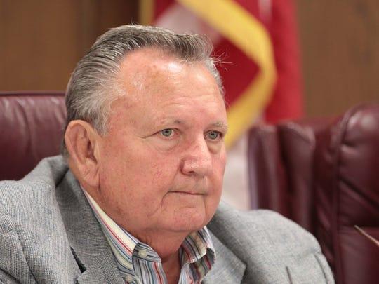 Ouachita Parish Police juror Mack Calhoun attends the jury's regular meeting on Monday, July 6, 2015.