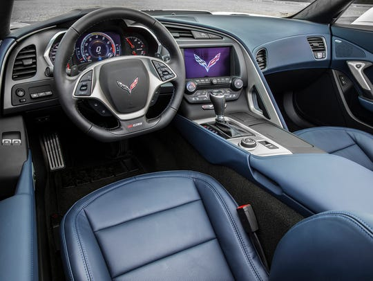 This is the interior of the 2016 Chevrolet Corvette