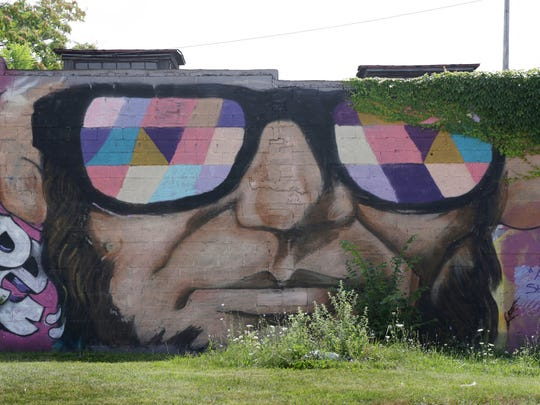 """Abe in Shades,"" by Desiree Kelly at 4239 Grand River (Grand River Creative Corridor) in Detroit."