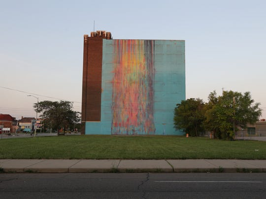"""The Illuminated Mural""  by Katie Craig at 2937 East Grand Boulevard in Detroit."