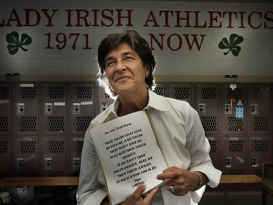 Father Ryan volleyball coach Jinx Cockerham has led the Lady Irish to four state championships.