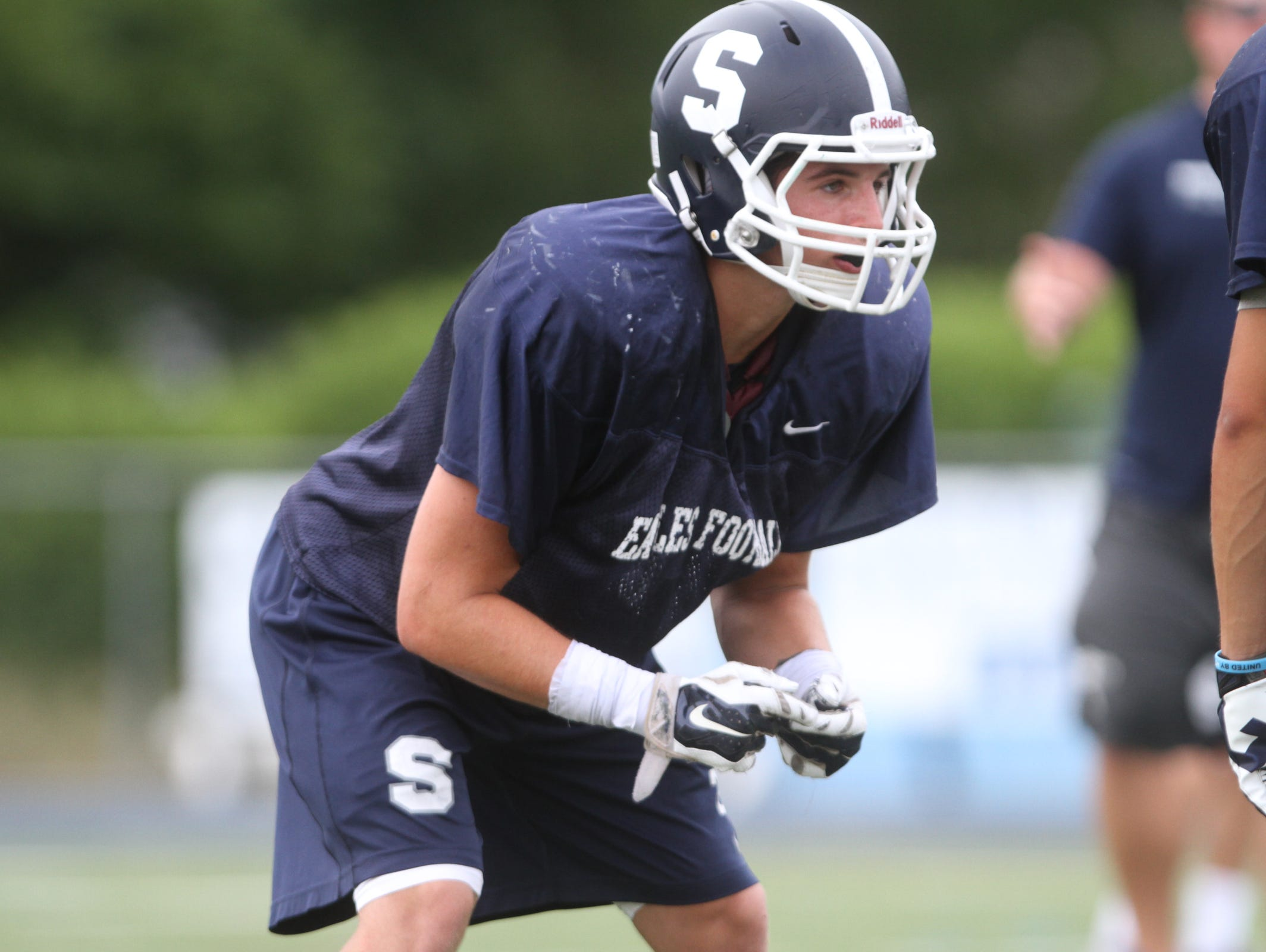 Middletown South senior running back Cole Rogers scored three touchdowns Friday night as Middletown South, ranked No. 1 in the Asbury Park Press Top 10, rolled tio a 42-0 win ovcer Neptune.