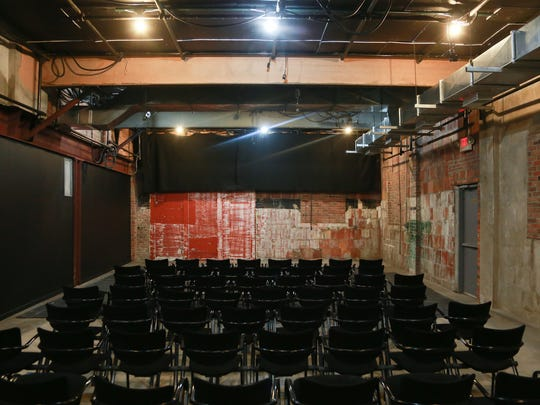 Chairs fill the new theatre area for Cinema Detroit in the new location of the business on Third Street in Detroit's Midtown on Wednesday October 7, 2015.