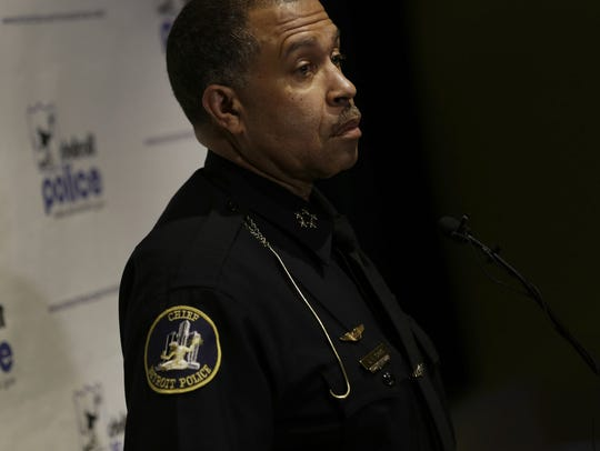 Detroit Police Chief James Craig talks Thursday, April