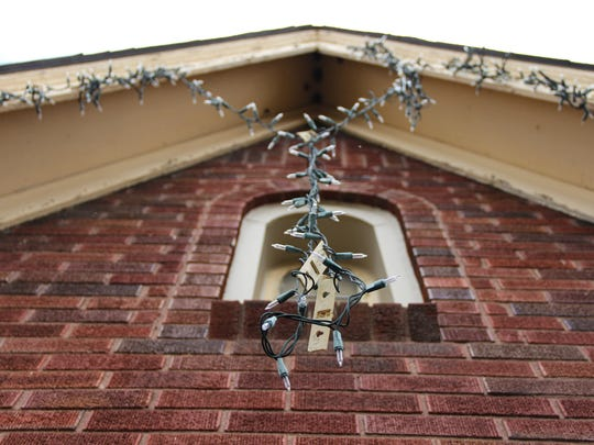 Check your lights to make sure the cords aren't cut or frayed before you hang them.