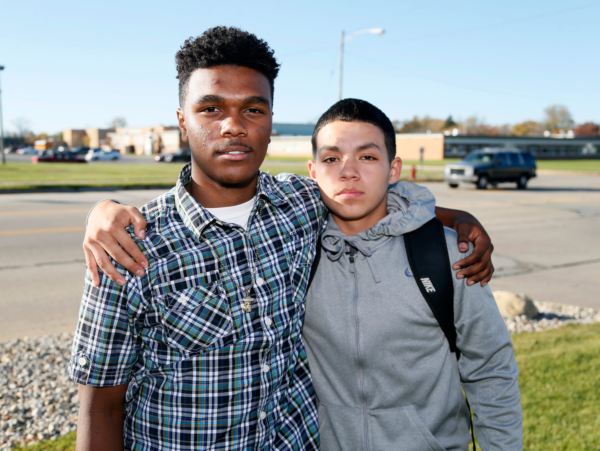 From left: South Haven students Caleb Ford, 16, and